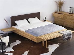 Lit King Size 180x200 : lit design 180x200 chevets int gr s t te de lit brun bois de bouleau naturel ebay ~ Preciouscoupons.com Idées de Décoration