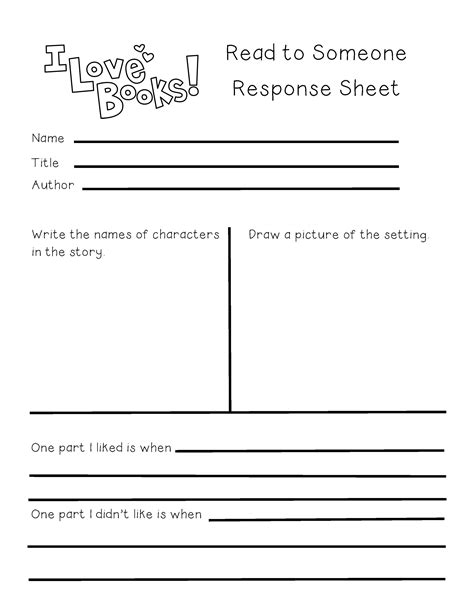 guided reading read to someone response sheet ignited