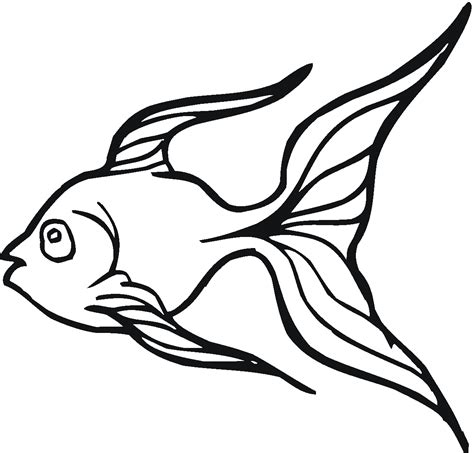 goldfish clipart black and white free printable goldfish coloring pages for