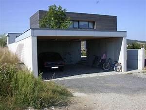 Carport Aus Rundstämmen : carport aus sichtbeton mit flachdach baumeister kickinger ~ Articles-book.com Haus und Dekorationen