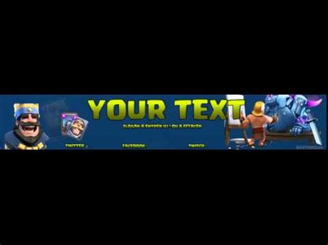 Banner Template De Clash Royale by Clash Royale Free Banner Template Youtube