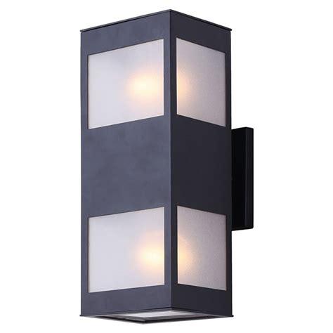 canarm 2 light outdoor wall light quot amando quot iol268bk rona