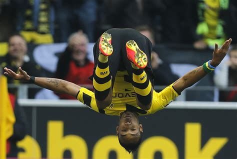 Aubameyang's Somersault Is The Pick Of Our Images Of The