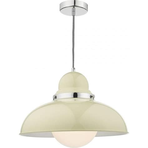 large painted metal ceiling pendant light with