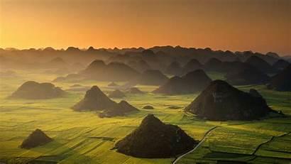 Luoping China Yunnan Bing Morning Landscape Moring