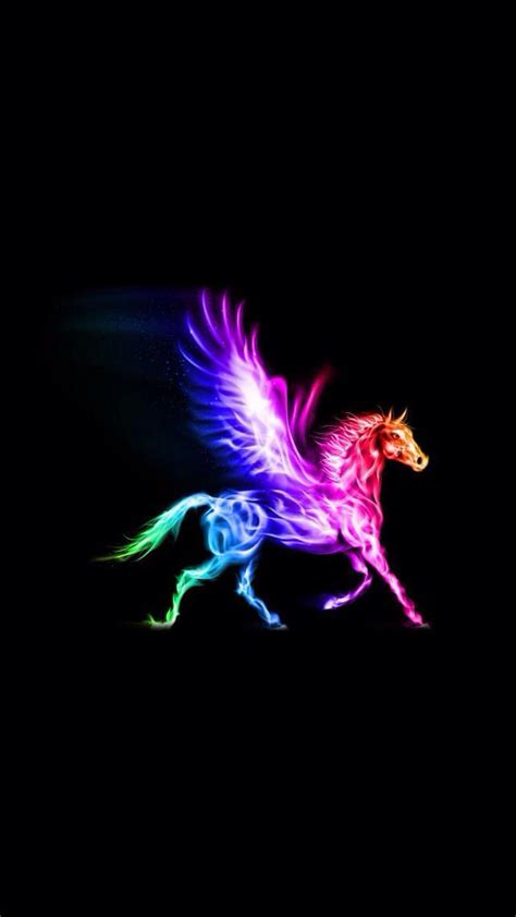 Galaxy Unicorn Neon Wallpaper by Rainbow Pegasus Girly Things Pegasus Pegasus