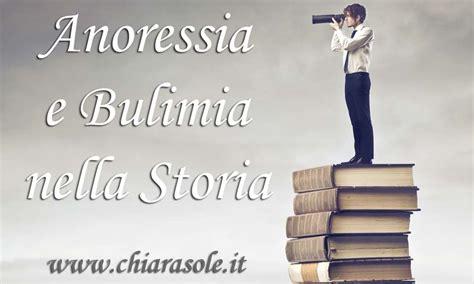 anoressia  bulimia nella storia