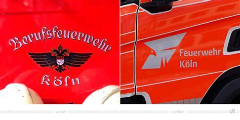 feuerwehr koeln logo  fahrzeug vorher und nachher