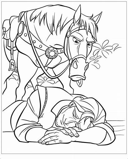 Coloring Tangled Pages Disney Colouring Rapunzel Printable