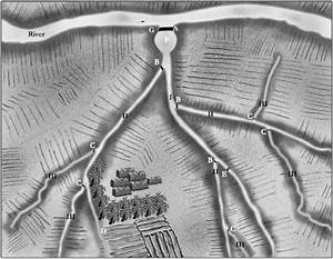 Topview Of A Traditional Iraqi Irrigation System  Drawn By