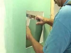 Trappe Visite Placo : montage d 39 une trappe acces youtube ~ Premium-room.com Idées de Décoration