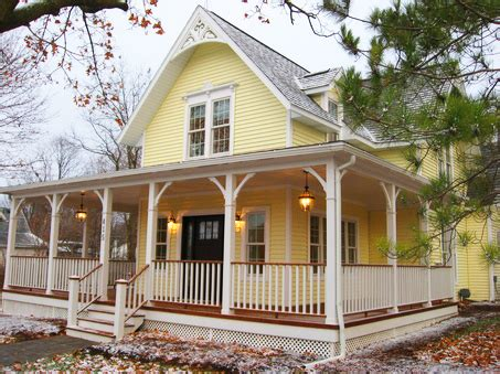 Two Story House With Wrap Around Porch by Front Porches A Pictorial Essay Suburban Boston Decks