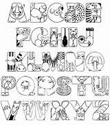 Coloring Alphabet sketch template
