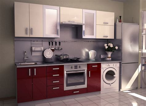 Kitchen Interior Apt Size Fridge Small Electric Ovens For