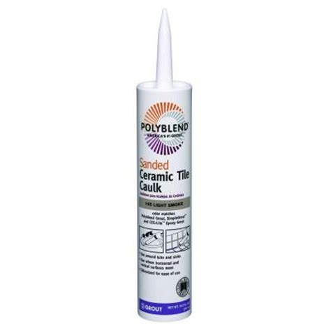 Polyblend Ceramic Tile Caulk by Custom Building Products Polyblend 145 Light Smoke 10 5