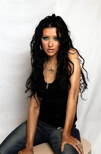 Aguilera Christina 2002 Getty Dark Deslumbra Pelo