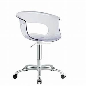 Chaise A Roulette : chaise de bureau a roulette et chaises de bureaux design chaises noir blanche rouge ~ Teatrodelosmanantiales.com Idées de Décoration