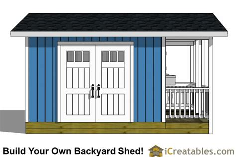 12x20 shed plans with porch storage building kits