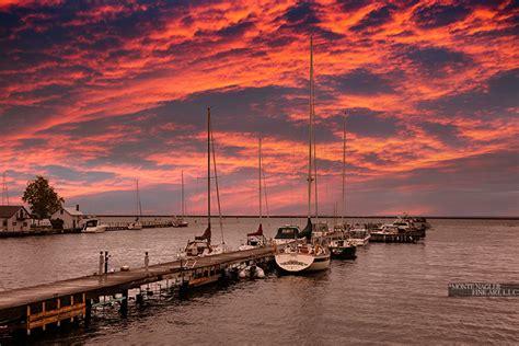 harbor  sunset marquette michigan  color fine art