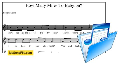 How Many Miles To Babylon  My Song File
