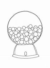 Gumball Machine Coloring Printable Round Bubble Template Pdf Glass Outline Empty Cartoon Getcolorings Collecting Childrens Drawing Popular sketch template