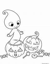 Coloring Halloween Lantern Jack Ghost Ausmalbilder Colorear Printable Colorare Pokemon Fantasma Kleurplaat Calabazas Adults Fantasmi Fantome Fantasmini Fun Scary Dibujos sketch template
