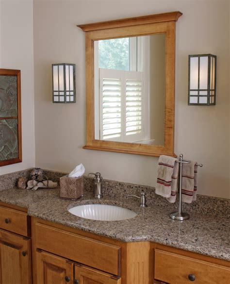 Craftsman Style Bathroom Fixtures by Prairie Style Bathroom Lighting Craftsman Bathroom