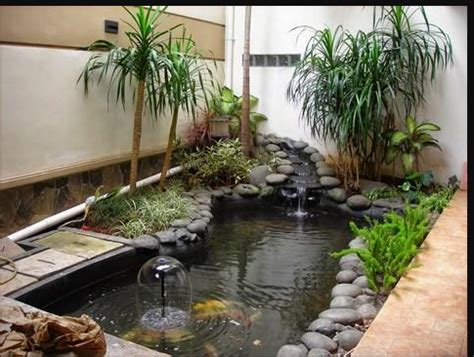 inspirasi batu alam  hiasan taman minimalis