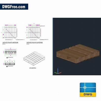 Dimensions Dwg Pallets Drawing Autocad 2d Cad