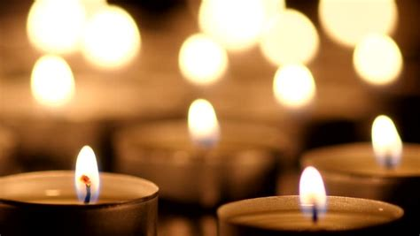 Many Candles Light On Black Background Stock Footage Video 7449352 Shutterstock