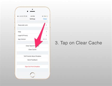 how do i clear cache on iphone how to clear dropbox cache on iphone or to free up