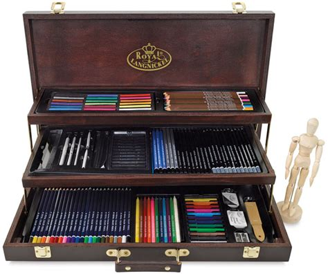 royal langnickel deluxe wood box drawing set blick art