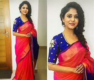 Hairstyles For Sarees Round Face Curly Hair HairStyles