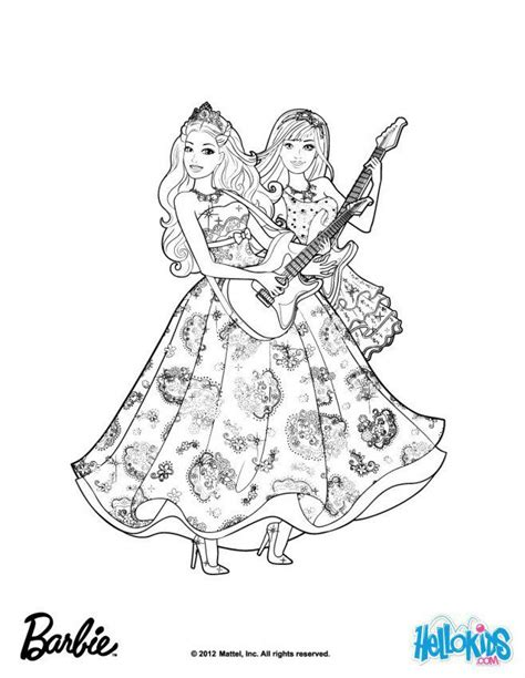 Barbie Princess And The Popstar Coloring Pages Home