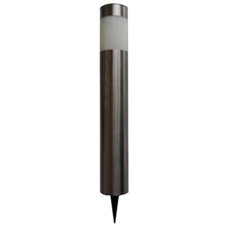 flc led meridiem stainless steel solar bollard light i n
