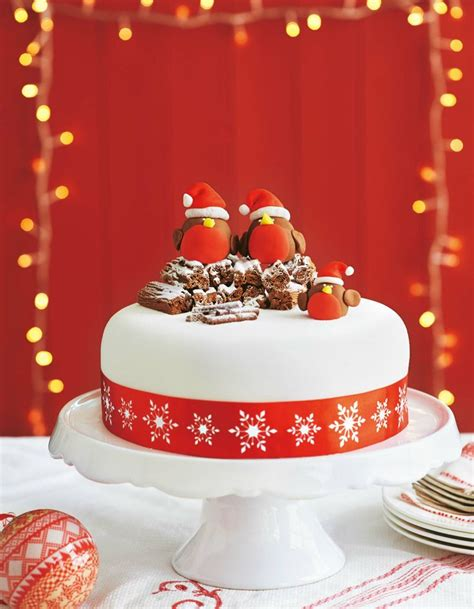 iced cake ideas top 21 christmas cakes food heaven