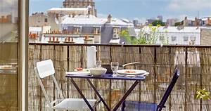 Table Pour Petit Balcon : sept astuces pour am nager un petit balcon madame figaro ~ Melissatoandfro.com Idées de Décoration