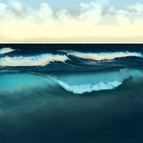 paint water waves   ocean  adobe photoshop