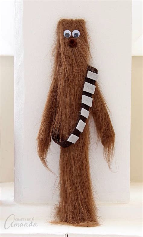 paint stick chewbacca fun family crafts