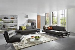 Canapé 3 Places Design : canap profond xxl longrun en cuir design 3 places ~ Teatrodelosmanantiales.com Idées de Décoration