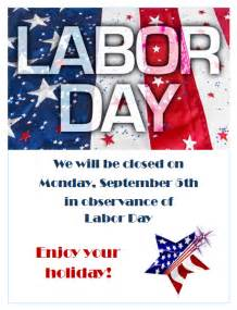 Closed Labor Day 2016