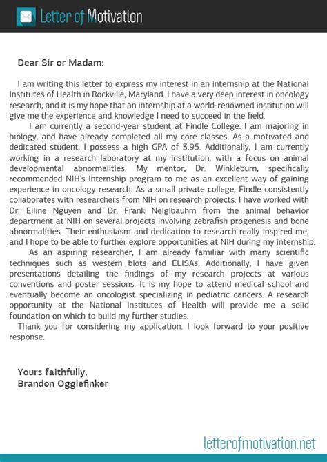 motivation letter  internship