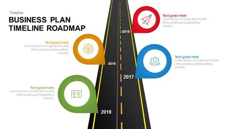 bar style table business plan timeline roadmap keynote and powerpoint