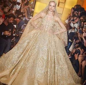 gold wedding dresses With gold color wedding dress