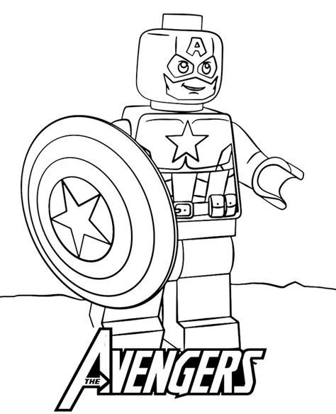 high quality lego captain america minifigure to print for free