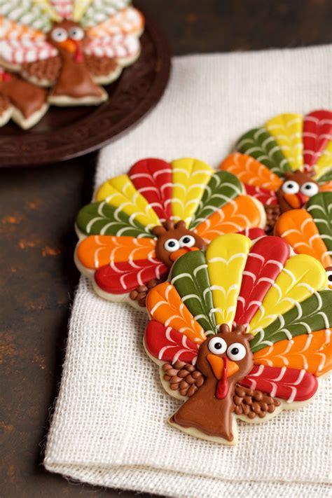 decorated turkeys decorated turkey cookies the bearfoot baker