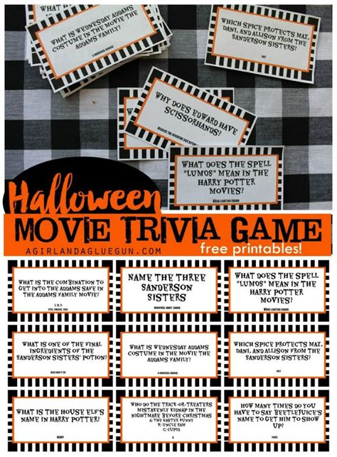 printable halloween  trivia game  days