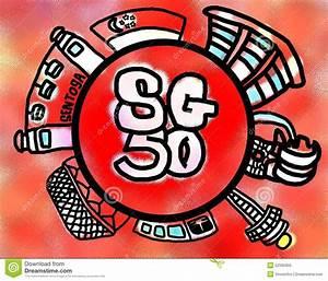 Singapore 50 Years Of Nation Building Celebration Stock ...