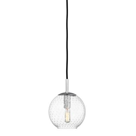 cl hudson valley rousseau polished chrome one light mini pendant with clear glass hudson valley cord