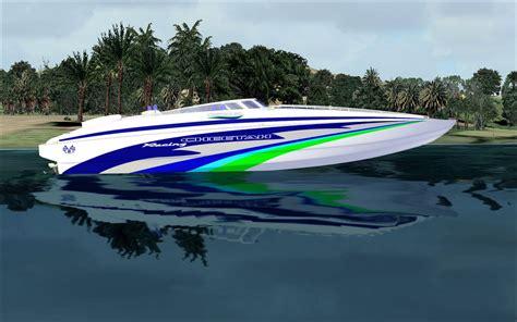 powerboat boat add   fsx